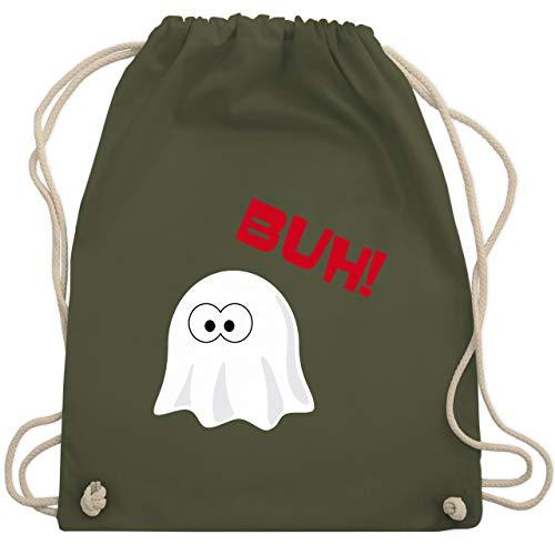 Halloween - Kleiner Geist Buh süß - Unisize - Olivgrün - WM110 - Turnbeutel & Gym Bag