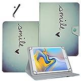 Tablet Hülle 10.1 Zoll für Archos Diamond Tab (2017) Schutzhülle Etui Case mit Touch Pen und Standfunktion - Liebesherz 2