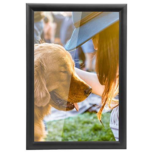 Yorbay Marcos de Fotos 15 x 20 cm Originales Pared Negro Pino Portafotos de Madera (15 x 20 cm)