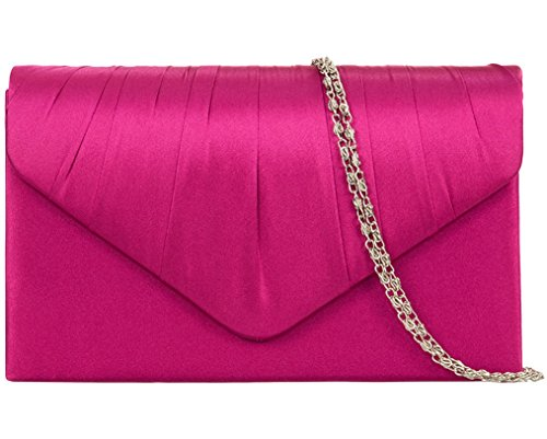 Purple Possum UK , Damen Clutch Pink Pink, Dark Pink, Cerise, Hot Pink, Fuchsia
