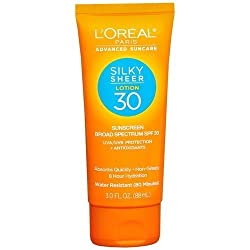 LOreal Paris Advanced Suncare Suncare Silky Sheer Lotion, SPF 30 3 fl oz Pack of 2
