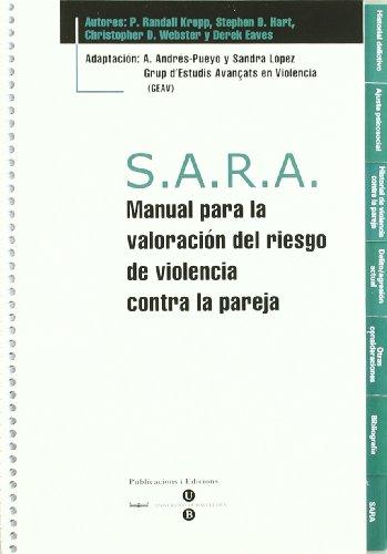 S.A.R.A. Manual para la valoración del riesgo de violencia contra la pareja + Bloc protocolos de 25 hojas por Sandra López Ferré