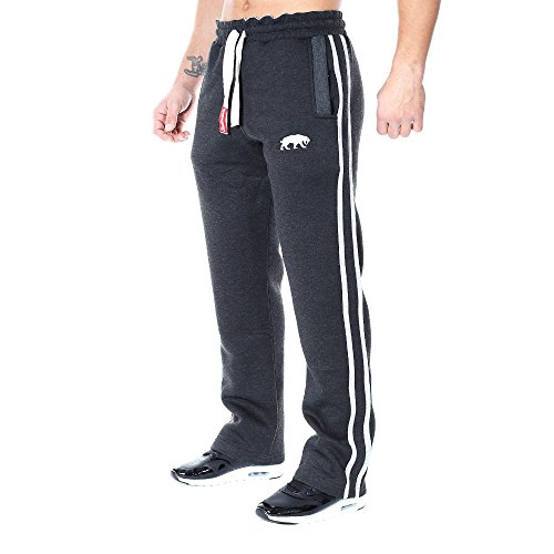SMILODOX Jogginghose Herren | Trainingshose für Sport Fitness Gym Training & Freizeit | Sporthose - Jogger Pants - Sweatpants Hosen - Freizeithose Lang, Farbe:Anthrazit/Grey, Größe:L