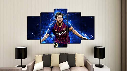 RUIYAN Cuadro De Lienzo Bandera De Messi Deportes
