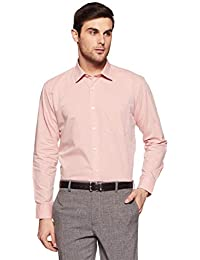 Amazon Brand - Symbol Men's Formal Fil a Fil Regular Fit Shirt (AW17MFS20_42_Red)