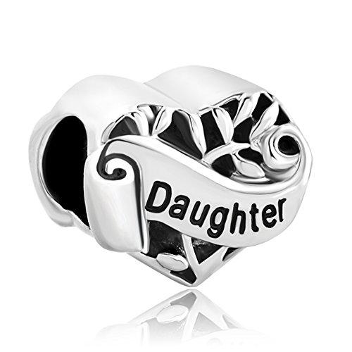 Uniqueen ciondolo a forma di cuore, decorato con l'albero della vita e la scritta