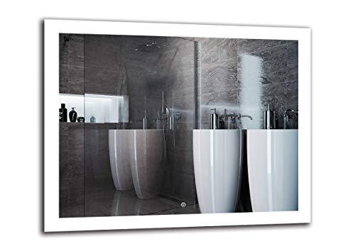 Espejo LED Deluxe   Dimensiones Espejo 100x80 cm