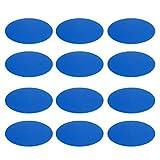 perfk 12 teilig Training Markierscheiben Rutschfeste Perfekt auf Rasen und Kunstrasen - Blau