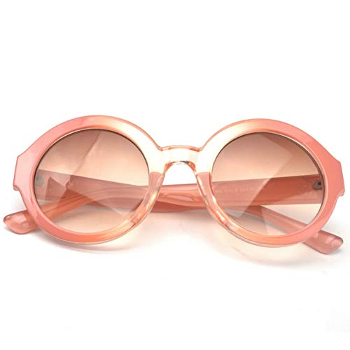 GBST Mixed Colors Children Glasses Sunglasses Men and Women Baby Cute Gradient Round Shape Sunglasses,pink