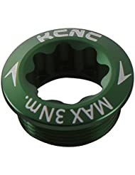 KCNC Crank Arm Perno M20x p1.0para Shimano Brazo Izquierdo 6colores, verde