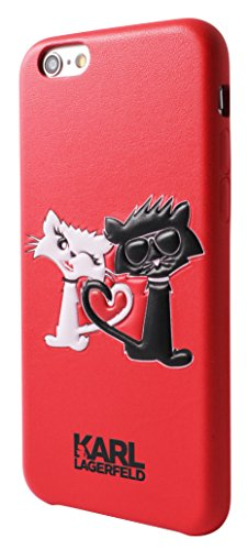 Karl Lagerfeld Choupette In Love Hard Case für Apple iPhone 6/6S schwarz rot