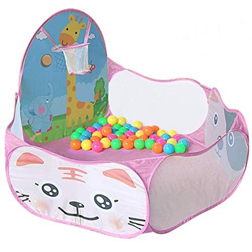 GWFVA Laufgitter Baby Zaun Kinder Spielen Tunnelzelt mit Bällebad, Kinderspielhaus für Kinder Indoor Outdoor Spielplatz Haushalt Bruchsicheres Spielzeug