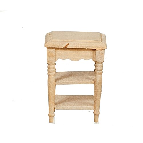 Gut Melody Jane Puppenhaus Beistell  Tisch Regale Unfinished Bare Holz Miniatur  Möbel