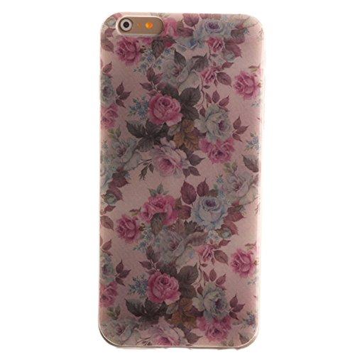 Nancen Apple iphone 5 / 5S (4,0 Zoll) Ultral Slim Weich TPU Silikon Case / Hülle / Handyhülle Backcover. Anti-Kratz und Anti-Staub. Weiße Blume