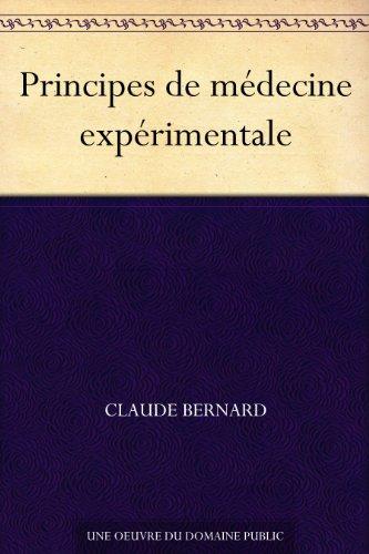 Couverture du livre Principes de médecine expérimentale