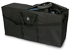 JL Childress Standard And Double Stroller Travel Bag Black