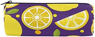 Bonipe Citron Motif Trousse Pochette Sac d'école papeterie Pen Box Zipper Cosmétique Sac de maquillage | Luxuriant Dans La Conception