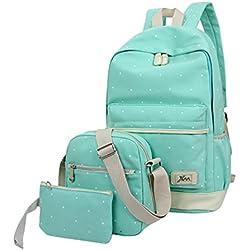 MingTai lona mochila escolar juvenil bolsas de colegio Bolsos de las mujeres bookbags cartera del bolso La 3pcs