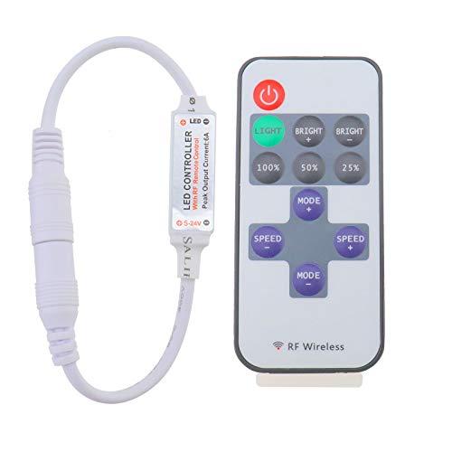 OTOTEC RF kabellose Fernbedienung für einfarbige Lichtstreifen, LED, DC 12 V, 12 A, Mini-Inline-Dimmschalter - Mini-fill-dimmer