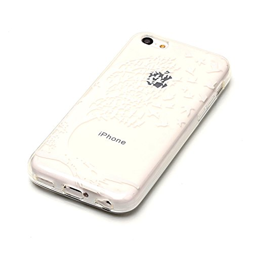 Apple iPhone 5C Hülle, Voguecase Schutzhülle / Case / Cover / Hülle / TPU Gel Skin (Donuts 08) + Gratis Universal Eingabestift Weiße hohle 02