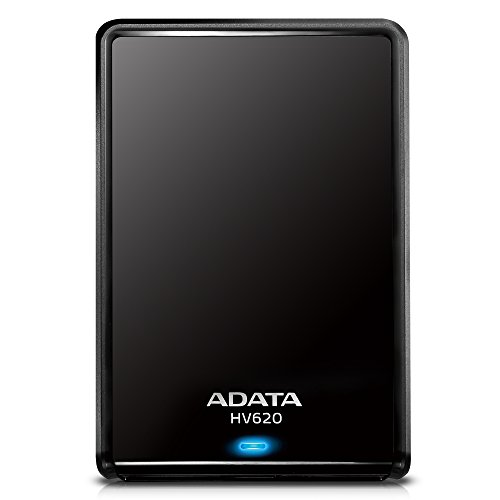 ADATA HV620   Disco duro externo de 1 TB (480 Mbit/s, USB 3.0), negro