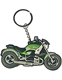 Royal Enfield Motorcycles RE Logo Rubber Keychain | Double Sided Keyring | KeyChain For Your Bike Keys | For Men...