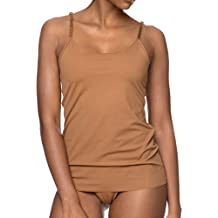 Nubian Skin NC01 Women's Naked Cinnamon Brown Solid Colour Top Camisole