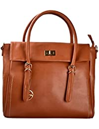 Shopclans Brown Color Handbag For Girls / Women's L Material: Faux Leather (SPC-031)