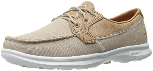 Skechers Women Go Step-Seashore Boat Shoes, Beige (Nat), 7 UK 40 EU