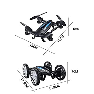 Land And Air Speed Dual Mode Wifi Real-time Aerial Four-axis Aircraft Remote Control High Speed Car,Black