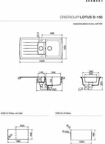 Preisvergleich Produktbild Schock Küchenspüle Lotus D-150, Auflage in Magma