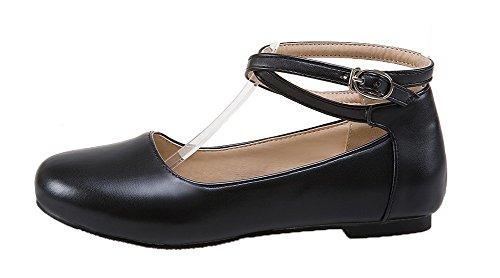 Tacco Nero Di Voguezone009 Poteva Solido Leggere Scarpe Non Pelle Inarcamento Rotondo Di Colore Donna FfqxBIww