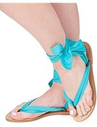 Sandales pour femme Sandales de Bohême Chaussures en ruban chaussures de  mariage Sandales de plage de ab81ed137a4