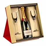 Bollinger Special Cuvee Brut Champagne in Gift Set with 2 Flutes NV 75 cl