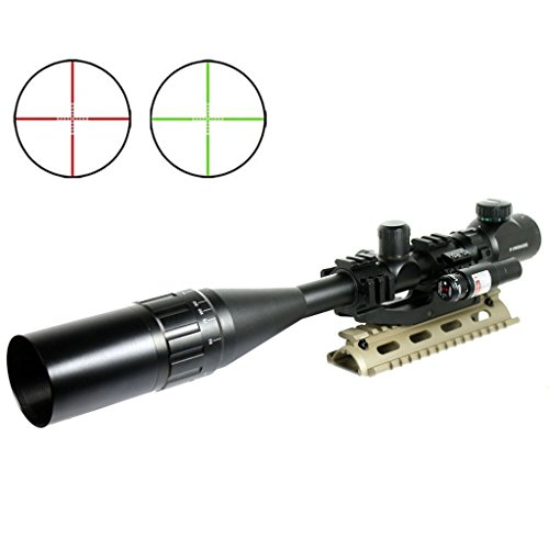 Spike Lunettes De Visee Fusil Tactique 6 24x50 Portee R G Mil Dot W Pepr Mont Ombrelle Laser Sight Combo Airsoft Arme Sight Chasse