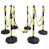 Kettenständer-Set gelb/schwarz, Kunststoff, 87 cm