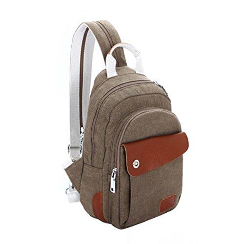Borsa tempo libero/Zaino piccolo/Donne borsa da viaggio in tela/Pack di petto/Borsa a tracolla diagonale singolo multifunzione-B E