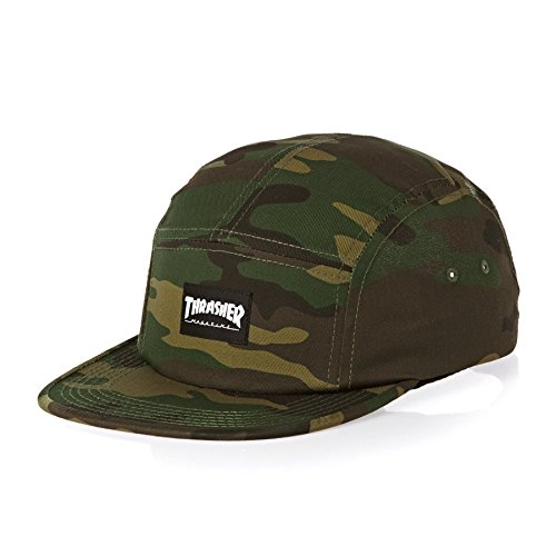 Thrasher 5 Panel Cap Green Camo One size