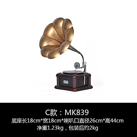LongGu The Living Room Decoration Decoration Retro Imitation Phonograph Home Furnishing European Tv Cabinet Cabinet Clothing Store Decoration Window Props
