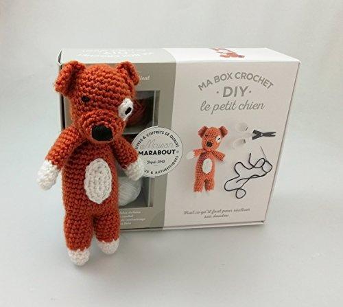 Ma box crochet DIY le petit chien : Avec 3 pelotes de fil polyester, 1 aiguillée de fil polyester noir, 1 crochet, 1 paquet de rembourrage et 1 livre de crochet Box Polyester