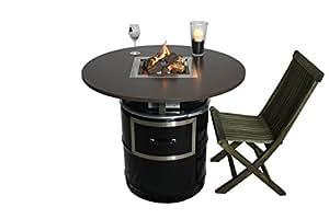 kamintisch king feuertisch heiztisch wintergrill gaskamin auf lfass auch f r. Black Bedroom Furniture Sets. Home Design Ideas