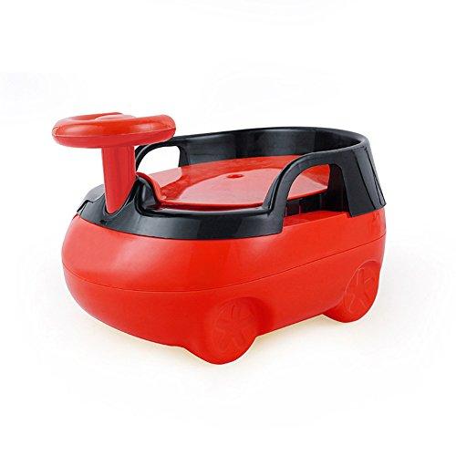 en Ausbildung Stuhl Sitz Junge Mädchen Toilette 2-In-1 Urinal Trainer Pee Kunststoff Tragbare Kammer Topf Extra-Large Größe Auto Form,Red ()