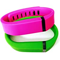 Preisvergleich für ! Small S 1pc Green 1pc Purple / Pink Replacement Bands + 1pc Free Small Grey Band With Clasp for Fitbit FLEX Only /No tracker/ Wireless Activity Bracelet Sport Wristband Fit Bit Flex Bracelet Sport Arm Band Armband