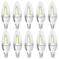 10Pcs LED 5 watt Candle Bulb white