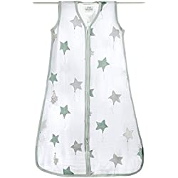 Aden + Anais up, up & away - Saco de dormir de verano para bebés (talla S-XL, muselina de algodón) talla L Talla:L