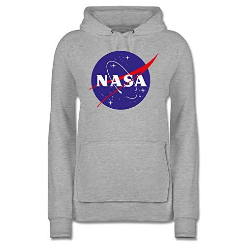 Shirtracer Nerds & Geeks - NASA Meatball Logo - M - Grau meliert - JH001F - Damen Hoodie