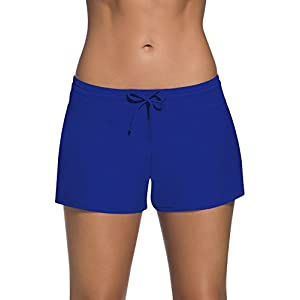 Dolamen Donna Pantaloncini da bagno, Costumi da bagno corto con coulisse regolabile Mini Bikini costumi da bagno 6 spesavip