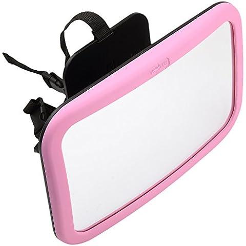 Venture grandangolo, motivo: funzione girevole e reclinabile, misura grande, colore: rosa - Auto Per Bambini View Mirror