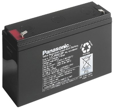 Panasonic LC-R0612P batterie au plomb de 6 volts, 12Ah