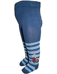 EBI& EBI - Gestreifte Strumpfhose für Jungen mit Maus Motiv, blau